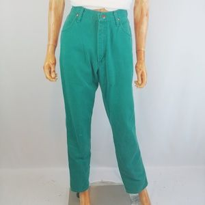 WRANGLER | vintage turquoise high rise jeans
